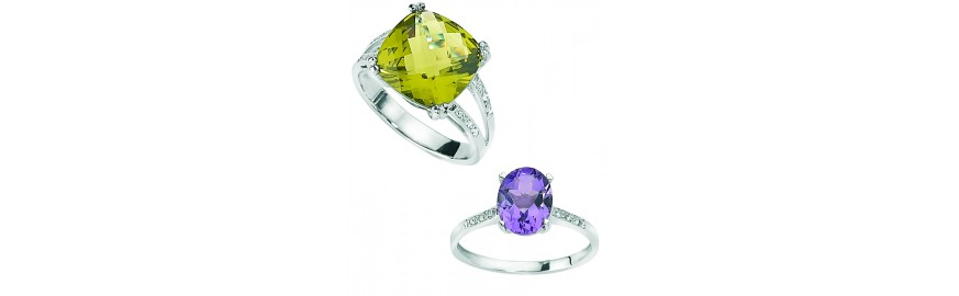 Coloured Gemstone Rings