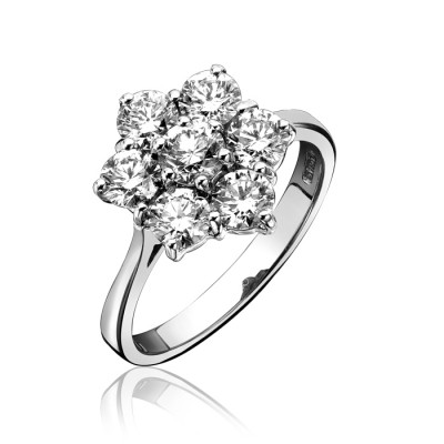 SEVEN STONE DIAMOND CLUSTER RING