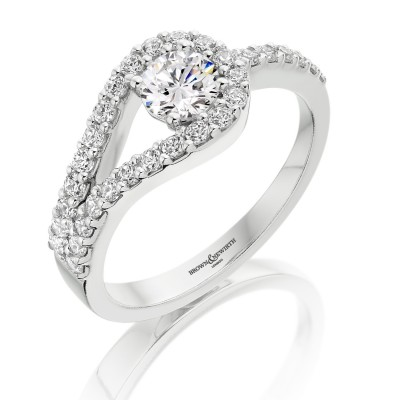 LOOPED ROUND BRILLIANT CUT DIAMOND DRESS RING