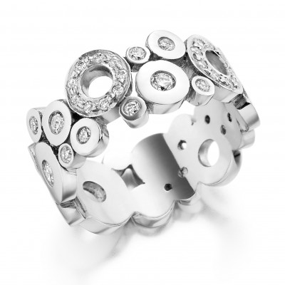 CIRCLES DESIGN DIAMOND DRESS RING