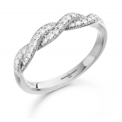DOUBLE CROSSOVER DIAMOND DRESS RING