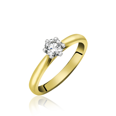 Single Stone Diamond Ring in Six Claw Setting