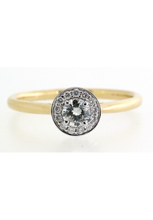 VINTAGE STYLE ROUND HALO CLUSTER DIAMOND RING