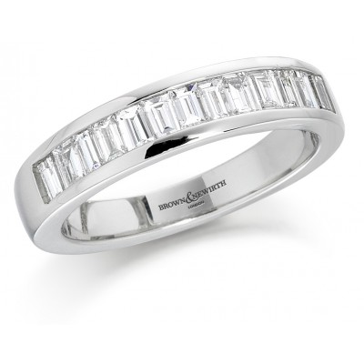 CHANNEL SET BAGUETTE CUT DIAMOND WEDDING RING