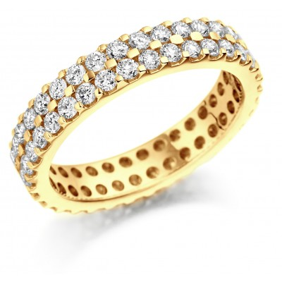 DOUBLE ROW FULL SET DIAMOND WEDDING RING