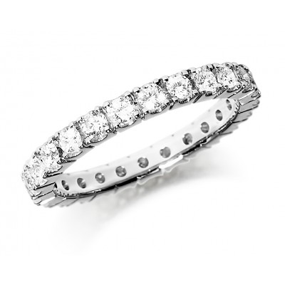 FULL CLAW SET DIAMOND WEDDING RING