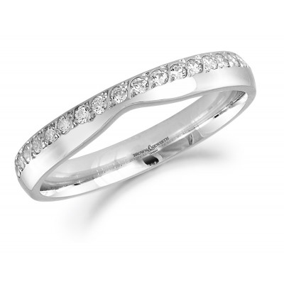 Shaped Diamond Set Wedding Ring