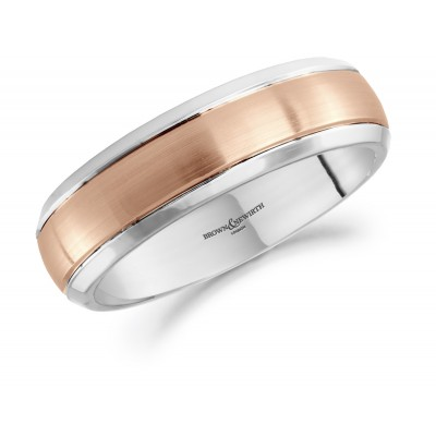 CENTRE BAND PATTERNED WEDDING RING