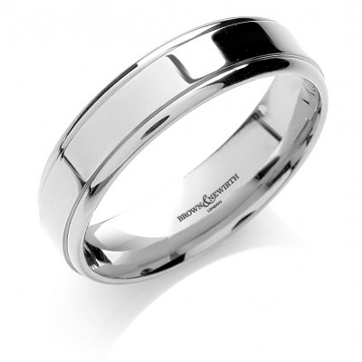 EDGE DETAIL PATTERNED WEDDING RING