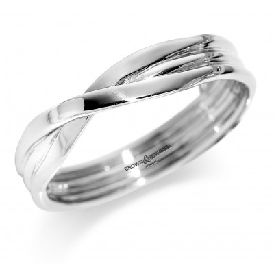 Cross Over Shaped Wedding Ring