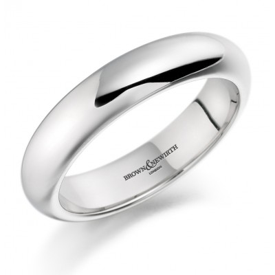 Plain Heavy Weight High Dome Shape Wedding Ring