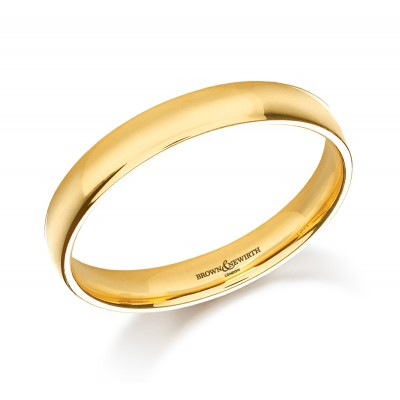 Plain Light Weight Courted Wedding Ring