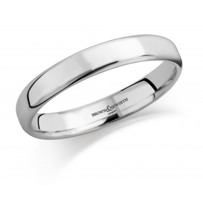 Plain Medium Weight Courted CCN Wedding Ring