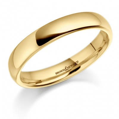 PLAIN MEDIUM WEIGHT COURTED WEDDING RING