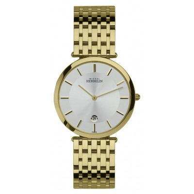 Mens Gold Plated Extra Flat Gents Epsilon Bracelet Watch