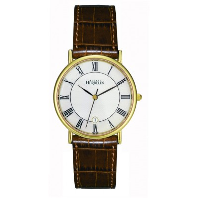 Men's Gold Plated Sonates Strap Watch