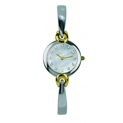 SALAMBO LADIES TWO TONE BANGLE WATCH